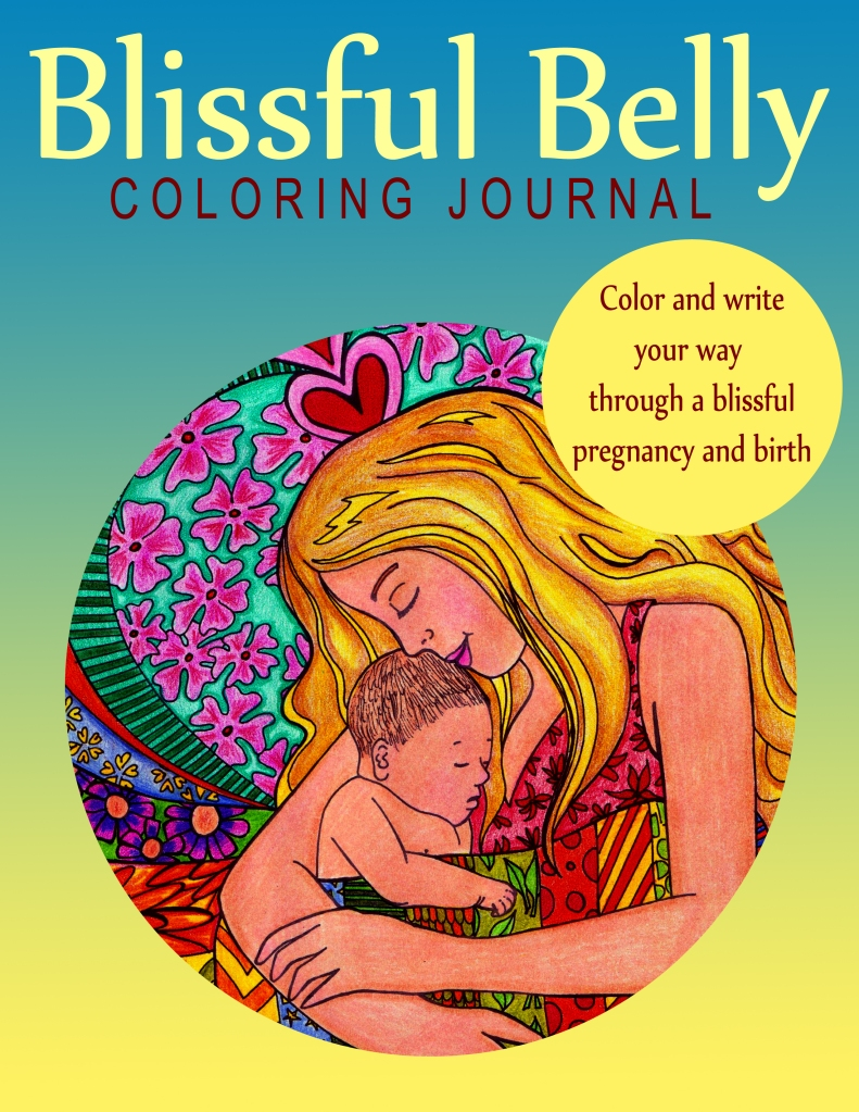 blissful belly pregnancy coloring journal book