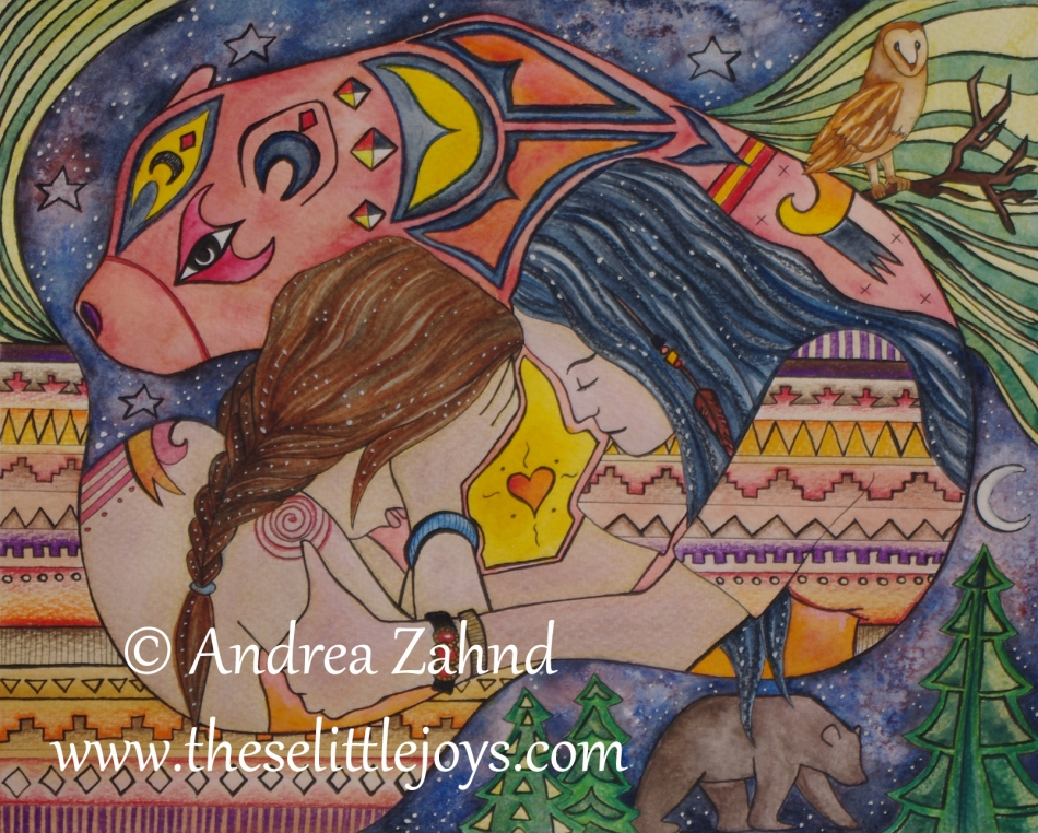 support during birth, happy images of birth, midwife images, art, painting, watercolor