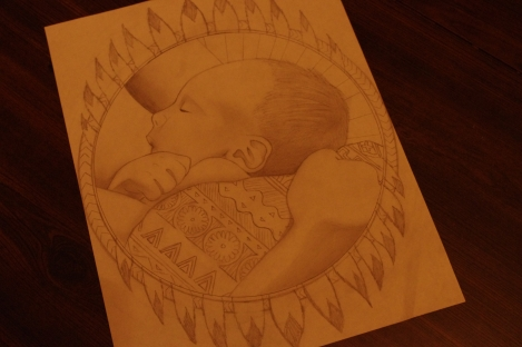 baby art, image, sketch, picture, photo, motherhood, bonding, love